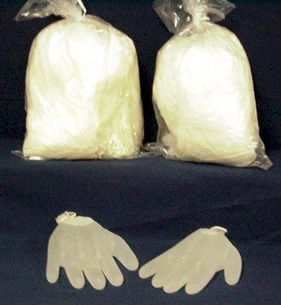 Sperm and latex gloves
